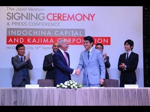 Indochina Capital & Kajima Corporation signing ceremony
