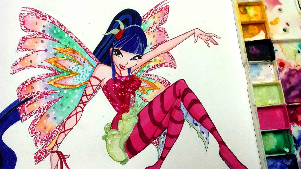 How To Draw Winx Club Musa Sirenix Speed Painting Youtube