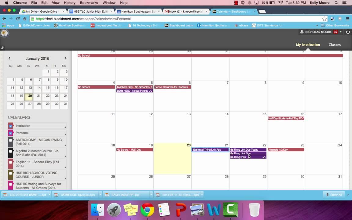Hse Bb Calendar Scenario 3 Youtube
