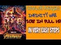 How to download Avengers infinity war 2018 HINDI in FULL HD 720P    Marvel avengers infinity war
