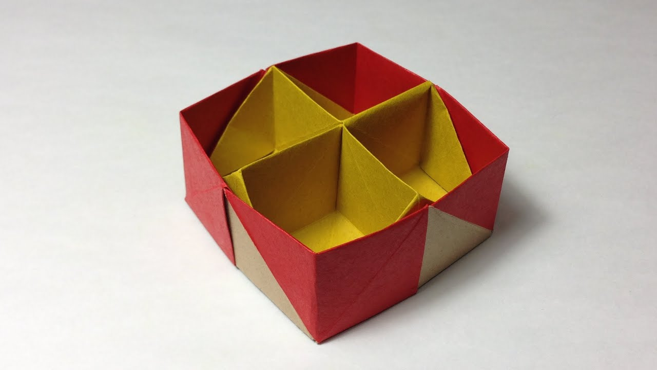 origami gift box instructions youtube