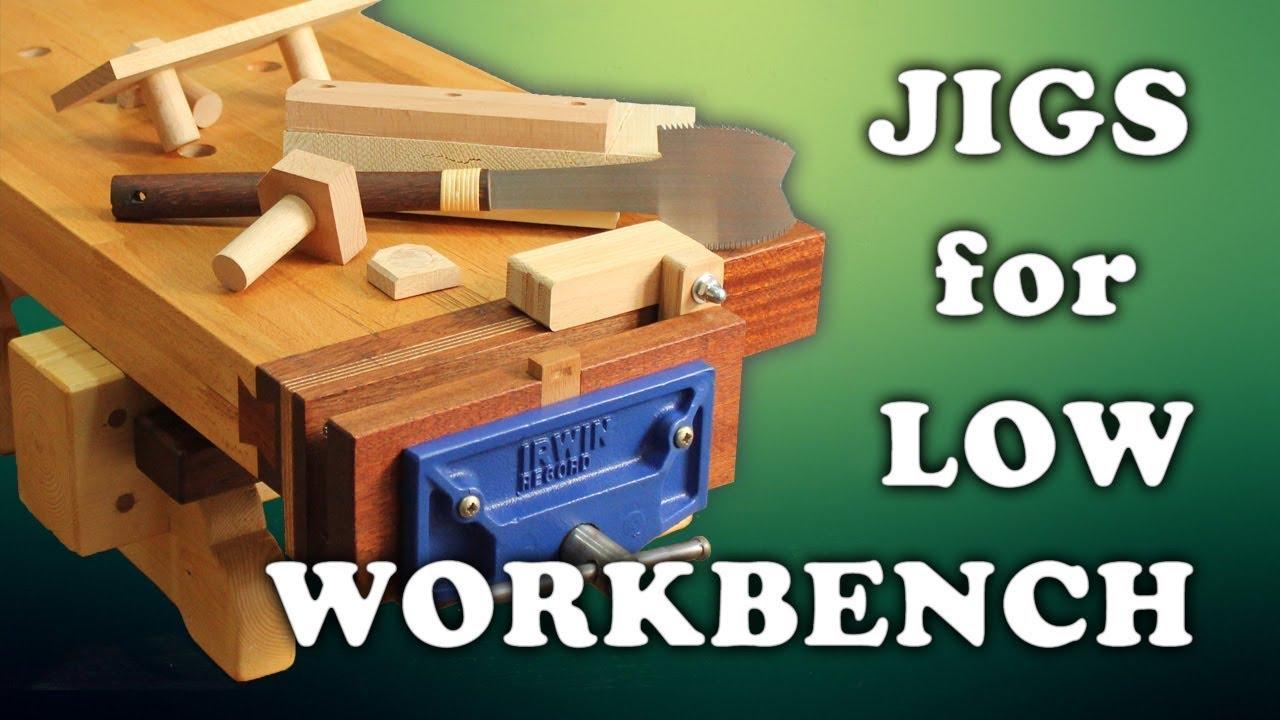 Low Workbench Updates Vise Bench Hook Planing Stop Racking Stop 3 4
