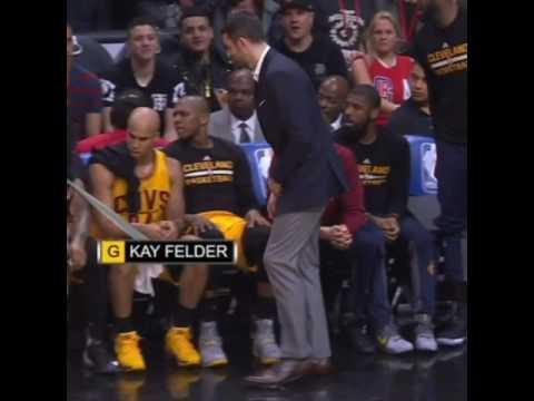 LeBron James bounces rookie Kay Felder for Kevin Love