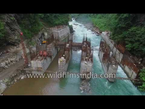 Tista and Rangeet river hydro power dam projects in Sikkim Himalaya : aerials journey