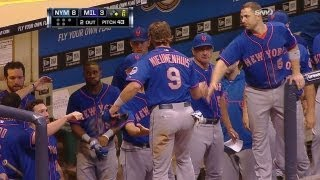NYM@MIL: Buck singles in Nieuwenhuis in the sixth