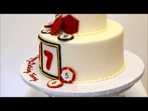 Vegas Theme Birthday cake - Casino Theme cake ideas