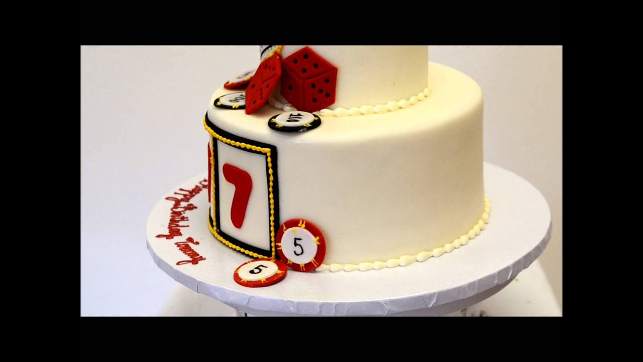 Vegas Theme Birthday cake Casino Theme cake ideas YouTube