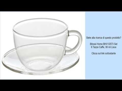 Bitossi Home BHV12573 Set 6 Tazze Caffe, 90 ml Lisce