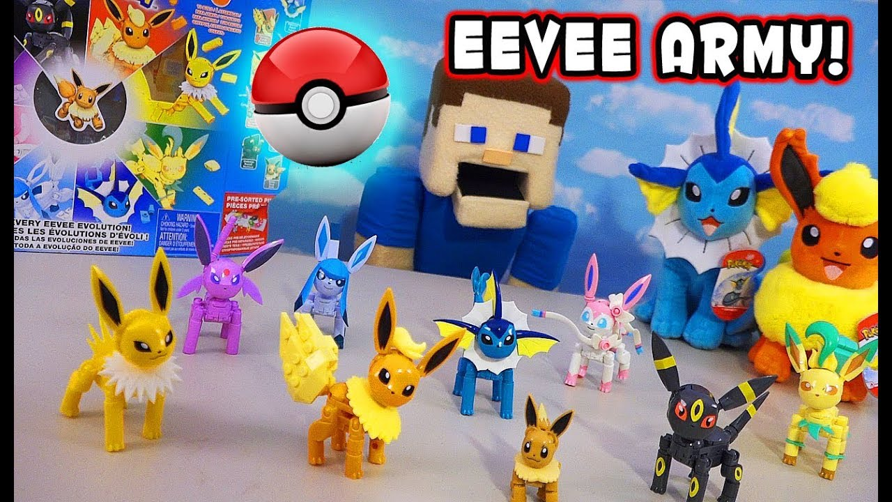 Pokemon Detective Pikachu Evolution Of Eevee Mega Contrux Playset