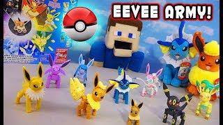POKEMON Detective Pikachu Evolution of EEVEE MEGA Contrux Playset Unboxing