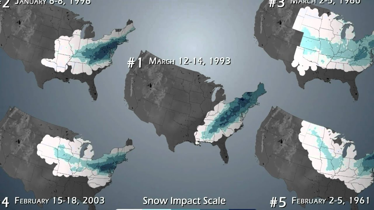 top 5 worst snow storms in history noaa youtube