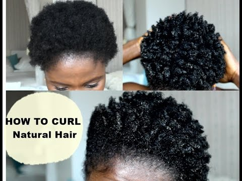 How To Curl Short Hair | 4C Easy Method