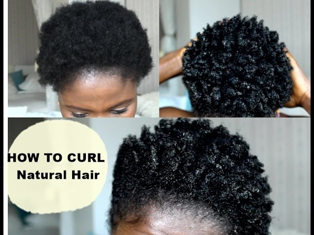 How To Curl Short Hair   4C Easy Method