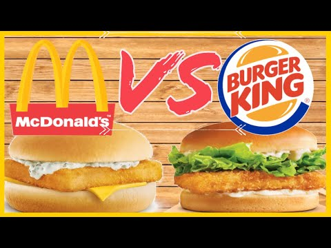Fish Sandwich Taste Test | McDonalds Vs Burger King | Lent Fast Food Review