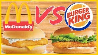 Fish Sandwich Taste Test   McDonalds vs Burger King   Lent Fast Food Review