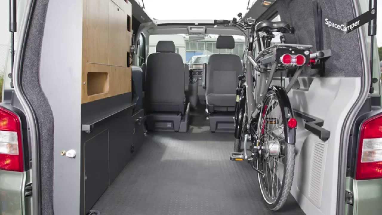 spacecamper fahrradtransport youtube. Black Bedroom Furniture Sets. Home Design Ideas