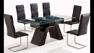 Glass Dining Table And Chairs Sets