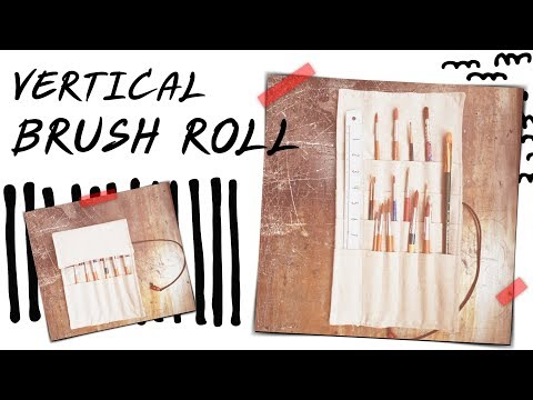 Easy Sew : Vertical Paint Brush Roll Up Wrap Case Tutorial