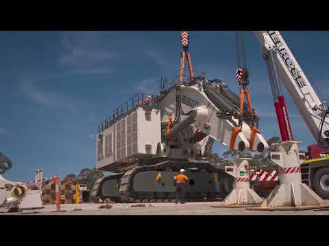 Liebherr - Assembly Of The Liebherr R 9800 Mining Excavator