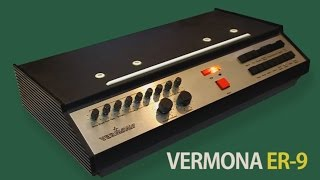 VERMONA ER-9 Vintage Rhythm Box 1976 | HD DEMO | SAMPLE PACK