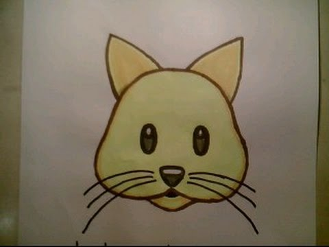 how to draw emoji cat face cute easy for kids amp beginners