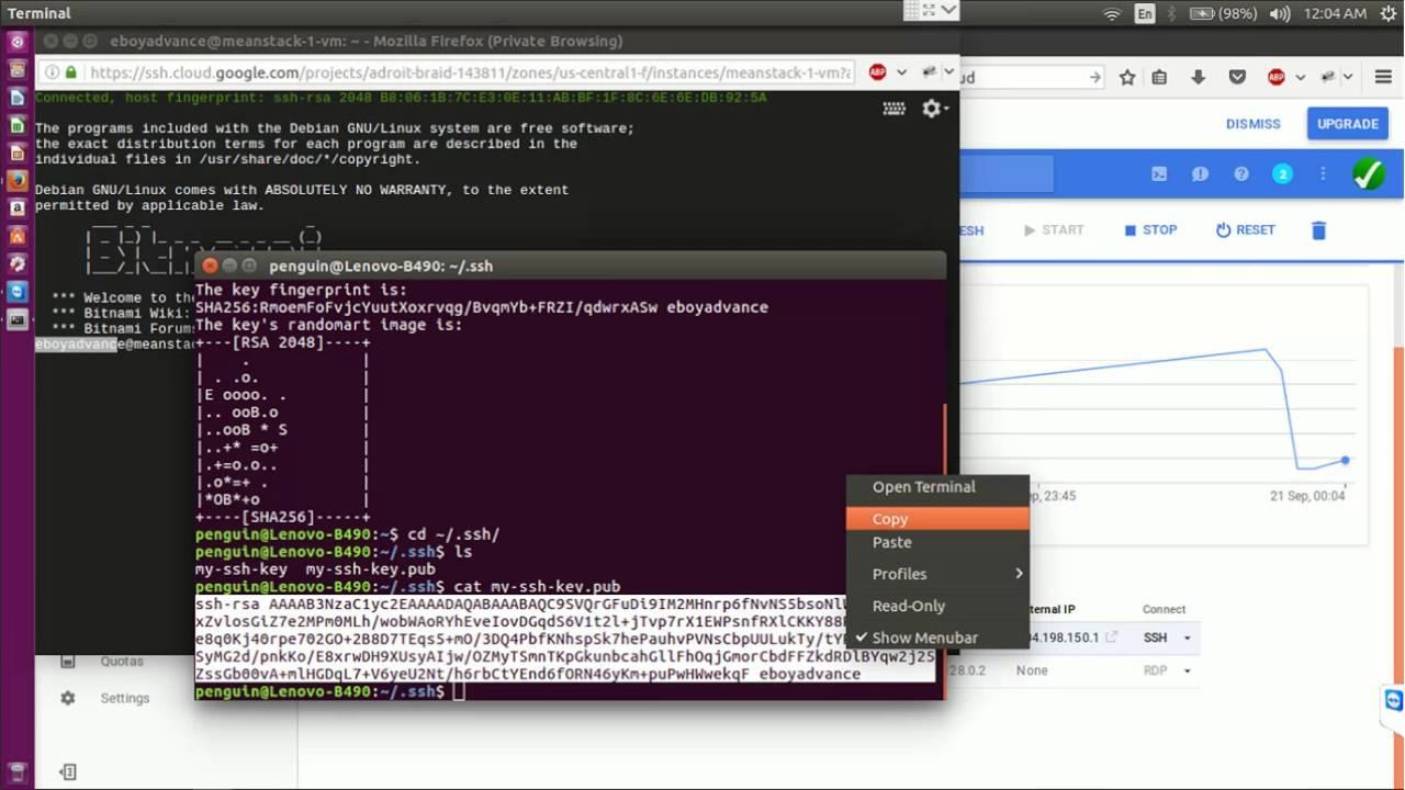 Connecting Ubuntu Linux to Google Cloud Platform
