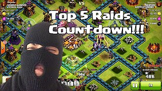 Clash of clans - Top 5 Raids (Grab only as much as you can steal)