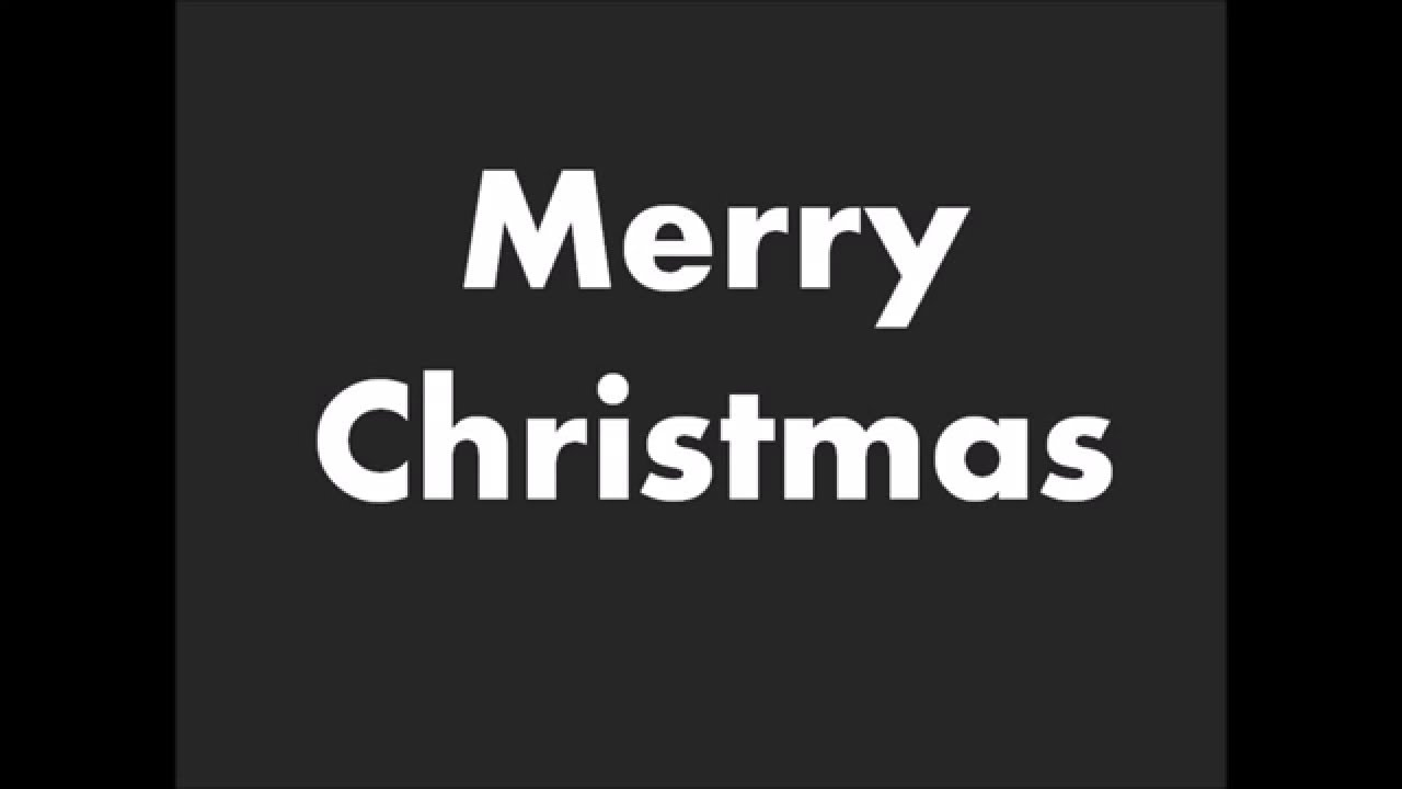 How to Pronounce Merry Christmas - YouTube