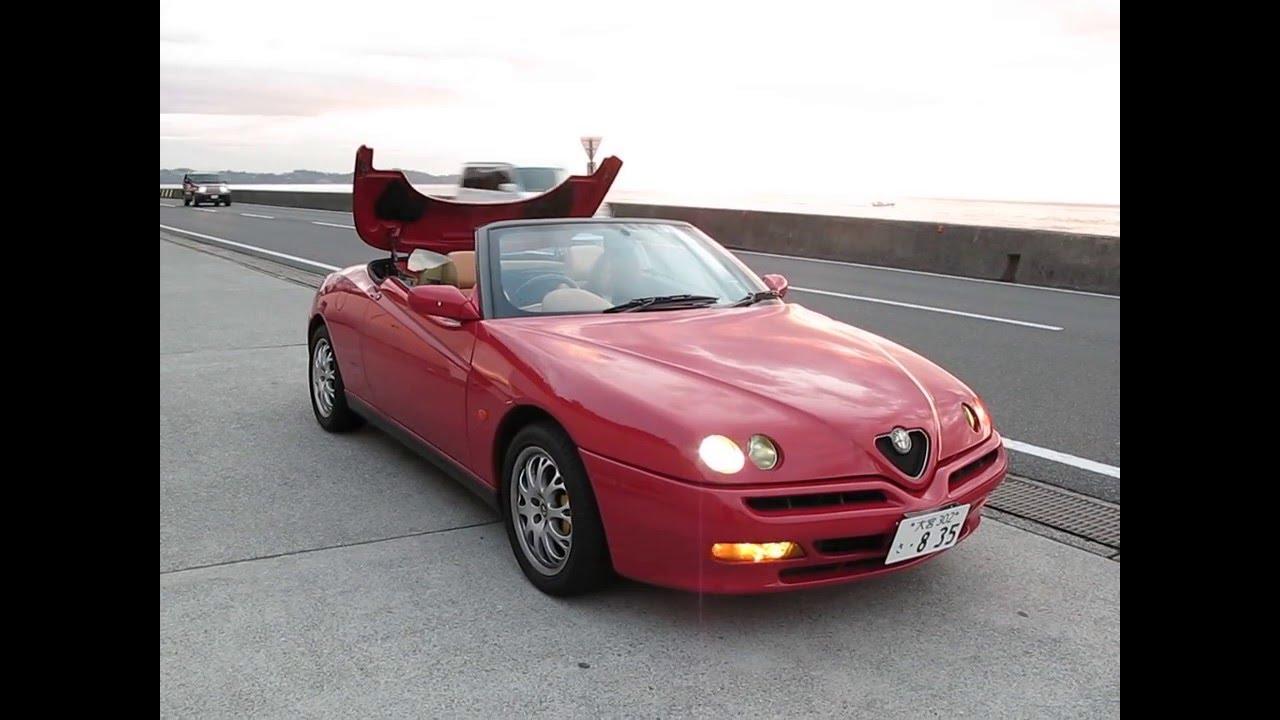 Alfa Romeo Spider GFSB Hydraulic Roof Open A View Of The - Alfa romeo spider soft top