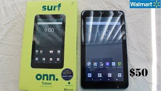 """New WALMART'S ONN Surf 7"""" Android 9 $50 Tablet Overview!"""