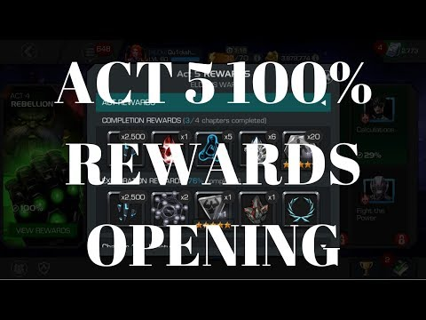 Act 5 100% Rewards Opening - 2X 5 Star 1X 6 Star