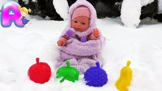 Anna Play with Baby Born Doll