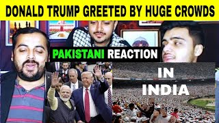 Pakistani Reaction on | Donald Trump Greeted By Huge Crowds WELL COME during official visit to India