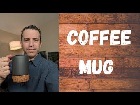 Dowan 15 Oz Coffee Mug With Insulated Cork And Splash Proof Mug Lid