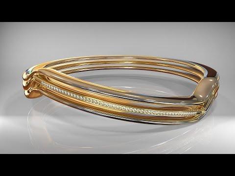 Maya 2016 / Keyshot 6 tutorial : How to model a gold ring set with diamonds