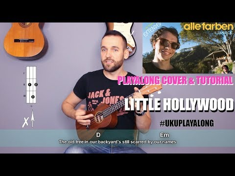 Alle Farben & Janieck - Little Hollywood Ukulele Cover Tutorial (|chords|MusicSheet)
