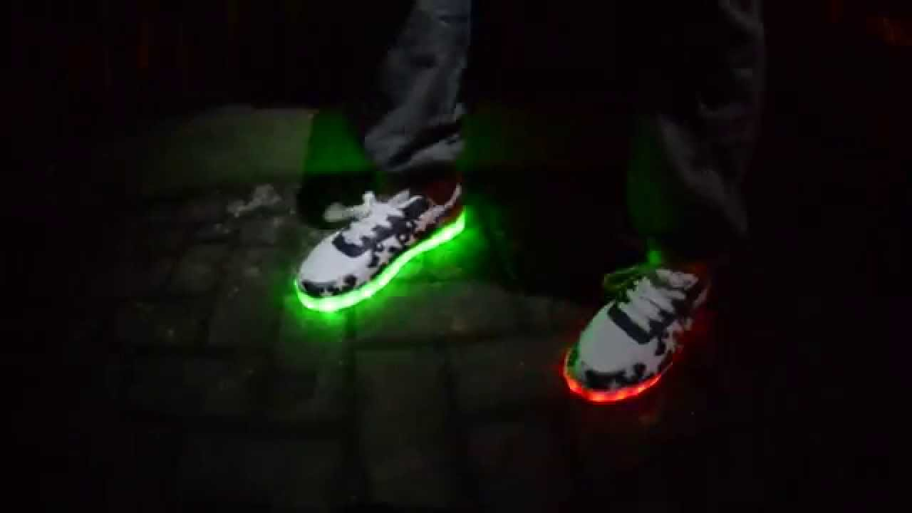 LED Light up Shoes Dance EPIC - YouTube