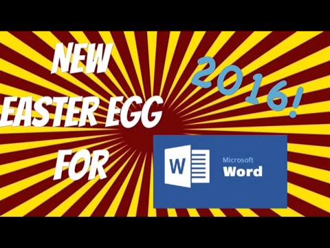 New Microsoft Word Easter Egg! (2016) - YouTube