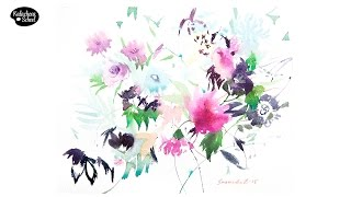 Рисуем акварелью: Цветы — kalachevaschool.ru