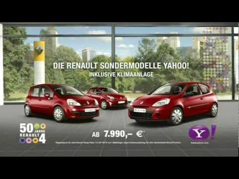 renault sondermodelle yahoo werbung 2011 youtube. Black Bedroom Furniture Sets. Home Design Ideas