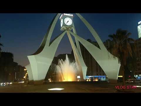 #Clock tower #roundabout #night view #Friday_12_6_2020#dubai#UAE