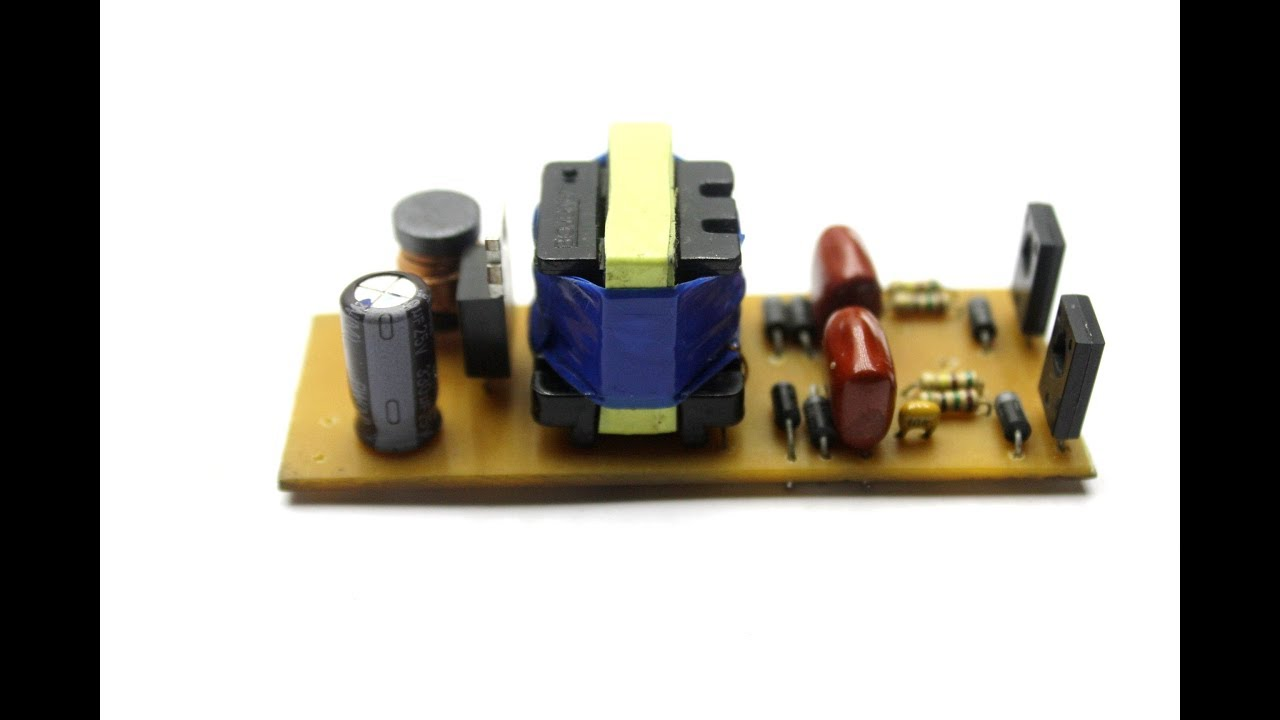Power Supply From An Electronic Transformer Youtube Electronics