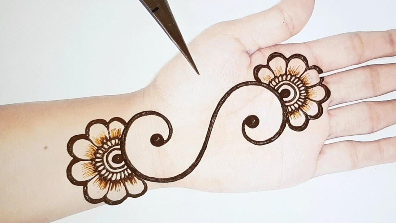 Easy S Letter mehndi design   Simple mehandi designs   Mehndi designs for hands   Shab's Creation