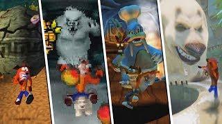 Evolution of Chase Levels in Crash Bandicoot Games