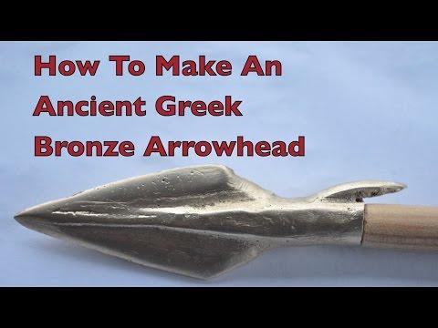 How to make an Ancient Greek Bronze Age Arrowhead.