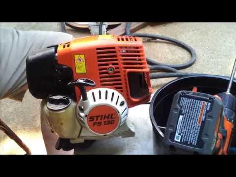 Stihl FS130 Decarbon Engine Maintenance U0026 Valve Service