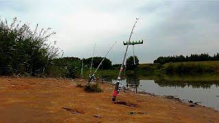 Рыбалка на озере на донку САЗАН УТАЩИЛ УДОЧКУ Ловля карася и сазана какпоиматьсазана сазан