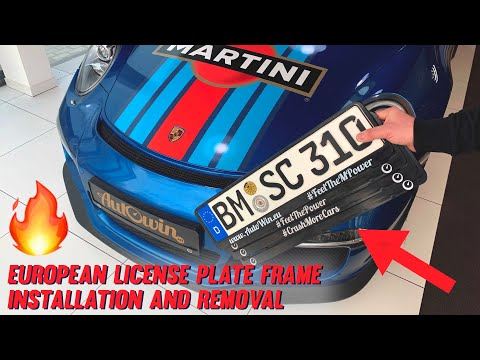 How To Install Or Remove European License Plate Frame