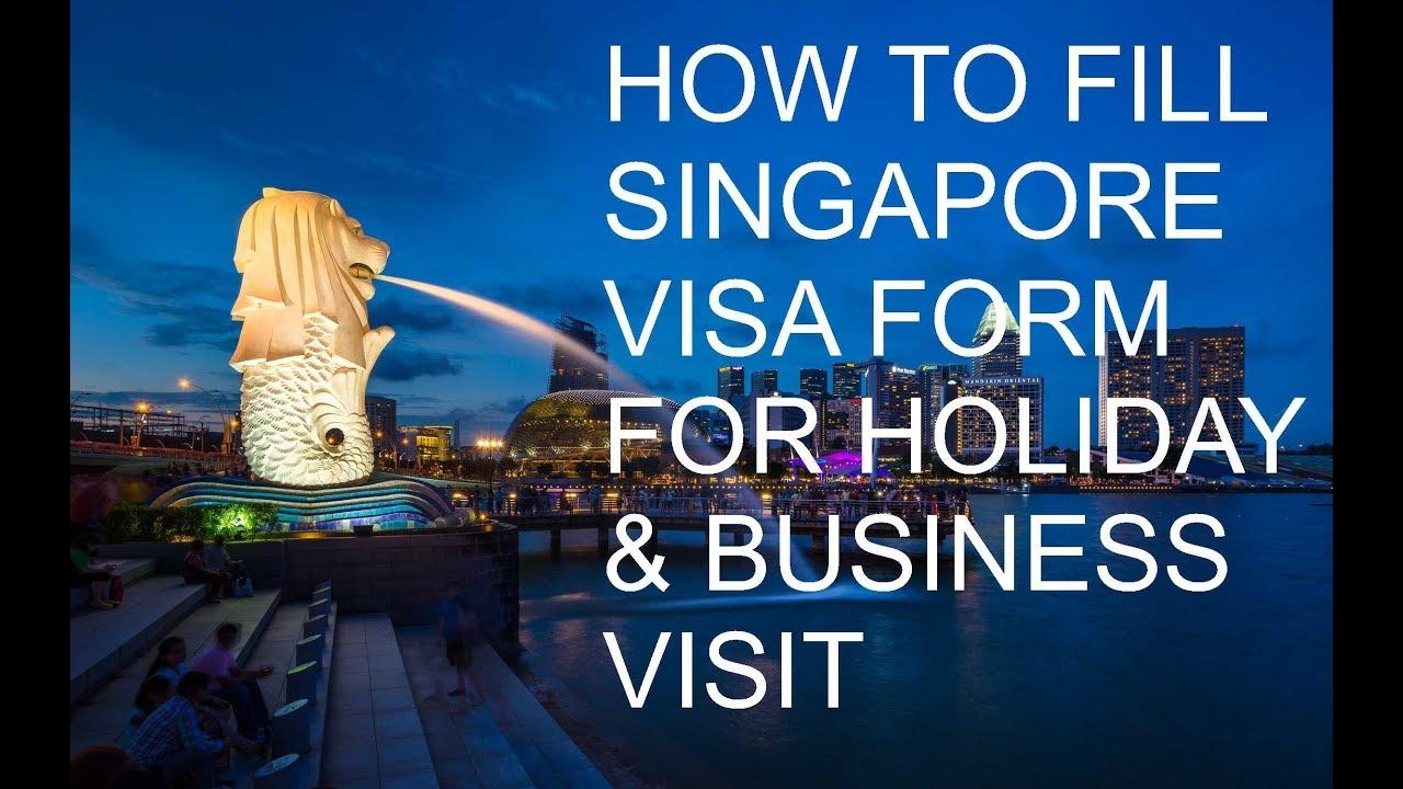 How to fill Singapore Visa Form 14A - कैसे भरे सिंगापुर वीजा फॉर्म