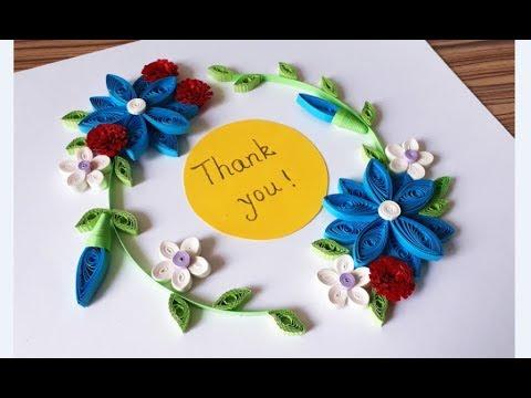 DIY Paper Quilling Flower For beginner Learning video 42 // Paper Quilling Flower Card